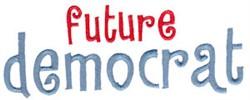 Future Democrat embroidery design