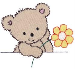 Cuddle Bear Daisy embroidery design