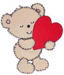 Cuddle Bear Heart embroidery design