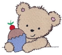 Cuddle Bear Cupcake embroidery design
