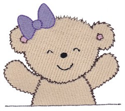 Cuddle Bear Girl embroidery design