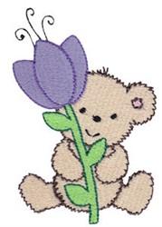 Cuddle Bear Flower embroidery design