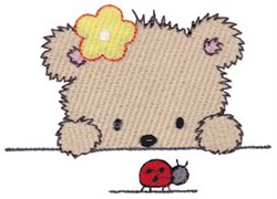 Cuddle Bear Ladybug embroidery design