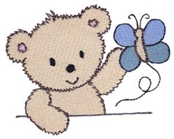 Cuddle Bear Butterfly embroidery design