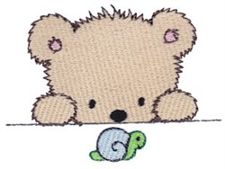 Cuddle Bear And Snail embroidery design