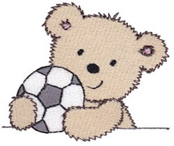 Cuddle Bear And Soccer embroidery design