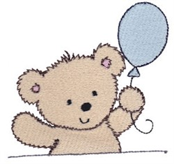 Cuddle Bear And Balloon embroidery design