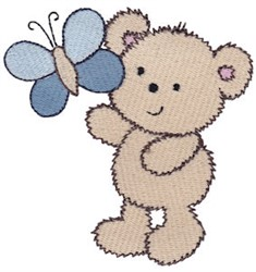 Cuddle Bear And Butterfly embroidery design