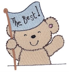 The Best Cuddle Bear embroidery design