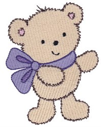 Cuddle Bear Wearing Bow embroidery design