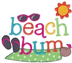 Summer Loving Beach Bum embroidery design