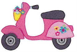 Summer Loving Scooter embroidery design