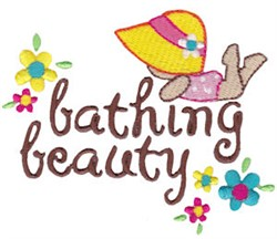 Summer Loving Bathing Beauty embroidery design