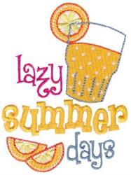 Summer Loving Beverage embroidery design