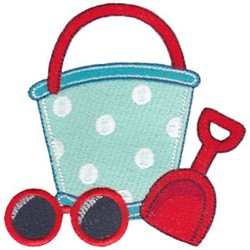 Summer Loving Shovel and Pail embroidery design