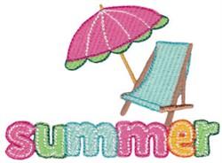Summer Loving Umbrella Chair embroidery design