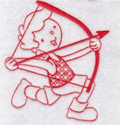 Sporty Boys Redwork Too Archery embroidery design