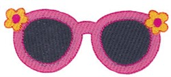Vacation Time Sunglasses embroidery design