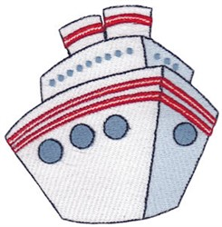 Vacation Time Ship embroidery design