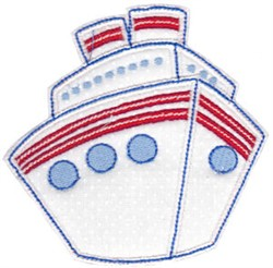 Vacation Time Cruise embroidery design