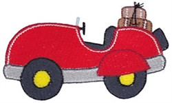 Vacation Time Automobile embroidery design