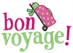 Vacation Time Bon Voyage embroidery design