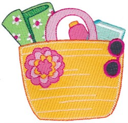 Vacation Time Tote embroidery design