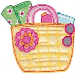 Vacation Time Purse embroidery design