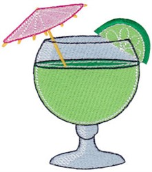 Vacation Time Cocktail embroidery design