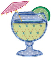 Vacation Time Beverage embroidery design