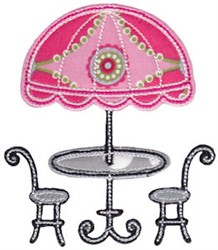 Vacation Time Cafe embroidery design