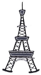 Vacation Time Eiffel Tower embroidery design