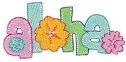 Vacation Time Aloha embroidery design