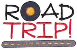 Vacation Time Road Trip embroidery design