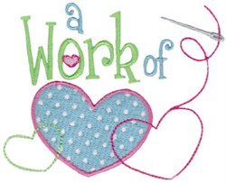 Work Of Love embroidery design