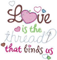 Thread That Binds embroidery design