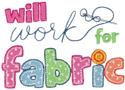 Work For Fabric embroidery design