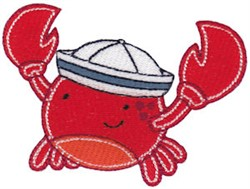 Sailor Crab embroidery design