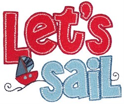 Lets Sail embroidery design
