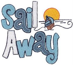 Sail Away embroidery design