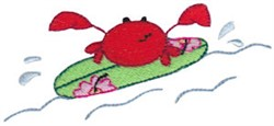Summer Crab embroidery design