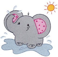 Summer Elephant embroidery design