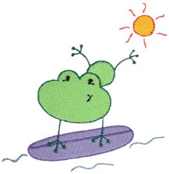 Summer Frog embroidery design