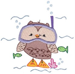 Summer Owl embroidery design
