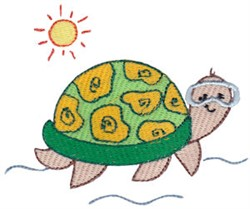 Summer Turtle embroidery design