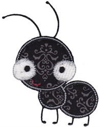 Applique Ant embroidery design