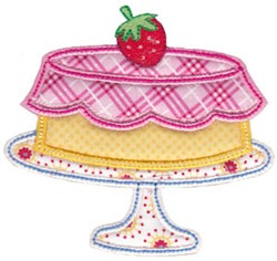 Applique Cake embroidery design