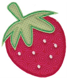 Applique Strawberry embroidery design