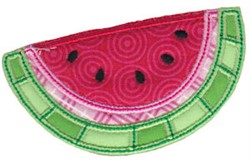 Applique Watermelon embroidery design