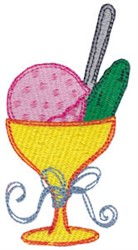 Ice Cream & Pickle embroidery design